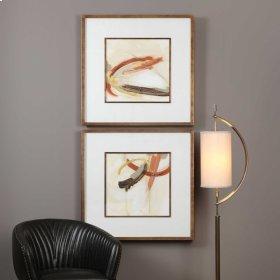 Upstage Framed Prints, S/2