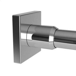 Polished Chrome Shower Rod Brackets