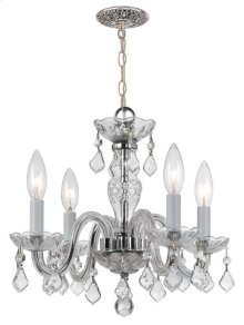4 Light Clear Italian Crystal Chrome Mini Chandelier I