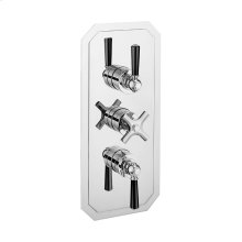 Waldorf 2000 Thermo Valve Trim (2 Outlets) - Polished Chrome