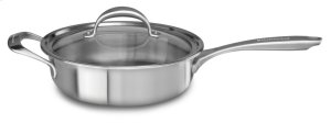5-ply Copper Core 3.5-Quart Saute with Helper Handle and Lid - Stainless Steel Finish