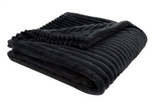 "THROW - 60"" X 50"" / BLACK ULTRA SOFT RIBBED STYLE"