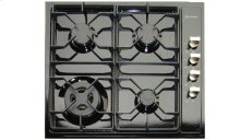 "Black 24"" Gas 4 - Burner Side Control"