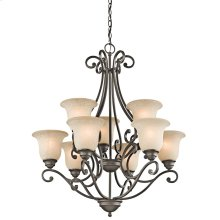 Camerena Collection Camerena 9 Light Chandelier - Olde Bronze