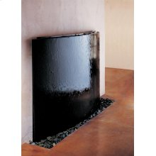 Curved Waterwall, Black Granite Black Granite Fountain