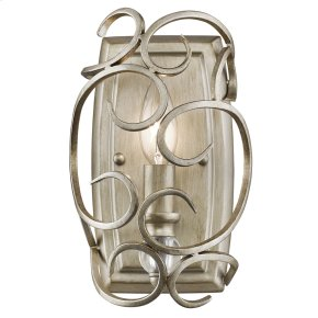 Colette 1 Light Wall Sconce in White Gold