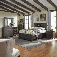 King Bookcase Bed, Dresser & Mirror, Chest, NS