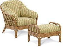 Moss Landing Wicker Chair and Ottoman