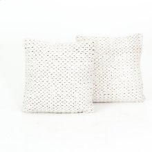 """20x20"""" Size Cream Braided Pillow, Set of 2"""