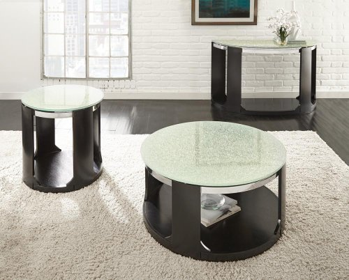 "Croften Cracked Glass Sofa Tbl 48""X18""X30""H 15mm"