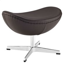 Glove Leather Ottoman in Brown