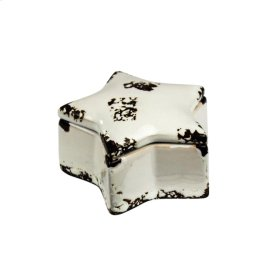 Star Covered Box, Distressed White