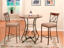 3-Pc. Hamilton Pub Set - (1) 697-404 Pub Table & (2) 697-432 Bar Stools