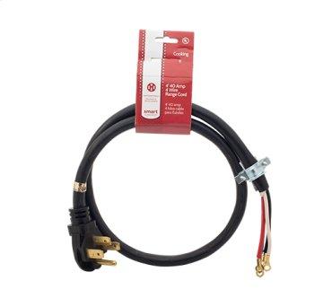 Smart Choice 4' 40-Amp. 4-Prong Range Cord