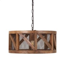 Kennedy Wood and Wire Pendant Light