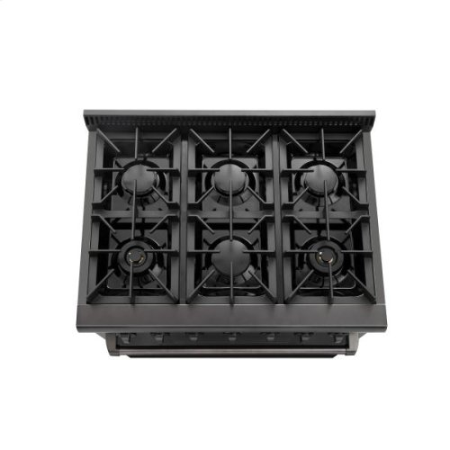 36 Inch Professional Gas Range In Black Stainless Steel