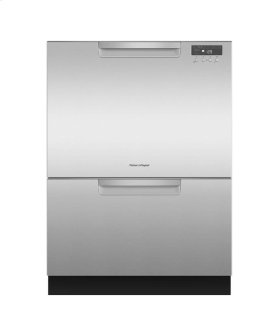 Tall Double DishDrawer Dishwasher incl Sanitize, Extra Dry and full flex racking