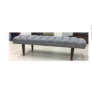 Mid-century Modern Grey Upholstered Bench