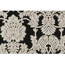 Graphic Illusions Gil03 Blk Rectangle Rug 27'' X 18''