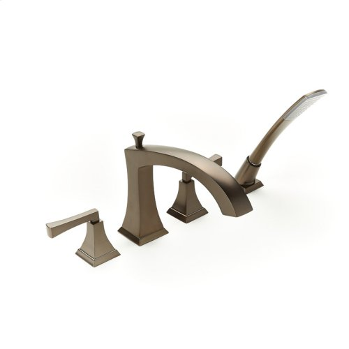 Roman Tub Faucet with Hand Shower Leyden (series 14) Bronze