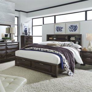 LIBERTY FURNITURE INDUSTRIESKing California Storage Bed, Dresser & Mirror, N/S