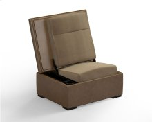 JumpSeat Ottoman, Olive Cover / Wheat Seat