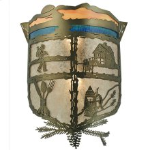 "15.5""W Lake Clear Lodge Wall Sconce"