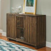 Modern Gatherings - Open Slat Bar - Brushed Acacia Finish Product Image