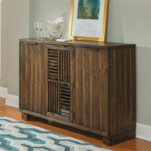 Modern Gatherings - Open Slat Bar - Brushed Acacia Finish