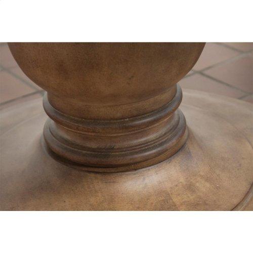 Sherborne - Concrete Top Round Dining Table Pedestal - Natural Concrete Finish