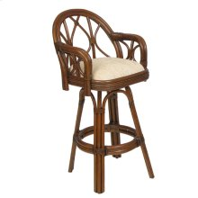 Rattan Bar or Counter Height Swivel Stool 686