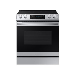 Samsung6.3 cu. ft. Front Control Slide-in Electric Range with Air Fry & Wi-Fi in Stainless Steel