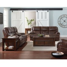 Manual Motion Console Loveseat