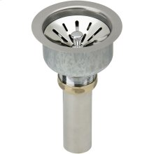 """Elkay Deluxe 3-1/2"""" Drain Type 304 Stainless Steel Body, Strainer Basket Rubber Seal and Tailpiece"""