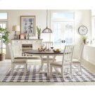 Grand Haven - Round Dining Table Base - Feathered White Finish Product Image