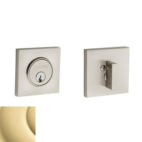 Non-Lacquered Brass Contemporary Square Deadbolt