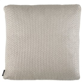 TICKLED GREY KNIT PILLOW - Grey / Silver