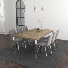 Natalia/Marlo 7pc Dining Set, Grey