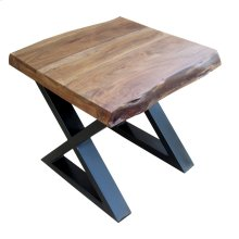 Living On the Edge End Table With Black Legs