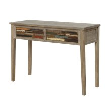 Emerald Home Pablo Pinewood Console Table With 2 Multi-colored Drawers-t313-02