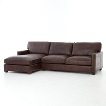 Vintage Cigar Cover Larkin 2 Piece Sectional W/ Left Arm Facing Chaise