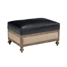 Old Saddle Black Foundation Ottoman