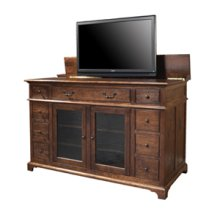 Plasma Television Console with Lift