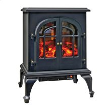 CZFP5 Ceramic Electric Fireplace Stove Fan-Forced Heater, Black