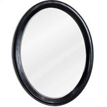"22"" x 27-1/2"" Espresso oval mirror with beveled glass"