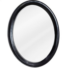 "22"" x 27-1/2"" Oval mirror with beveled glass and Espresso finish."