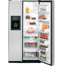 GE® Counter-Depth 21.1 Cu. Ft. CleanSteel Side-By-Side Refrigerator with Dispenser