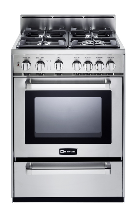 "Stainless Steel 24"" Gas Range
