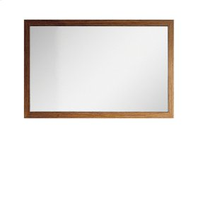 Wallmount mirror with tigerwood frame