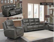 """Laurel Pwr-Pwr Chair, Grey 40""""x40""""x40"""""""